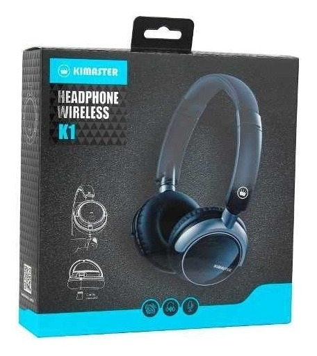 Fone Headphone Bluetooth Kimaster K1/ Kb1 Fm Cartão Sd Top