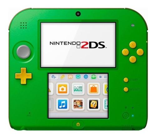 Nintendo  3DS 2DS Link Edition  color verde y negro