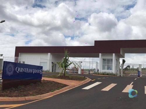 Terreno À Venda, 336 M² Plano - Quinta Dos Ventos - Zona Sul - Ribeirão Preto/sp - Te1589