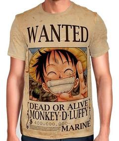 Camisas Camisetas De Animes One Piece Wanted Luffy