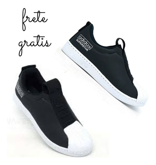 Tênis Masculino adidas Superstar New Slip Preto E Branco