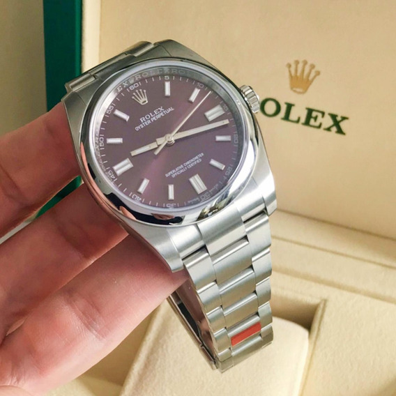 Rolex Oyster Perpetual 36 Red Grape 2019 Completo