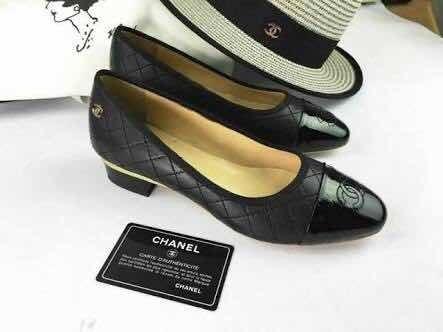 Scarpin Chanel Cc - Salto Quadrado Baixo