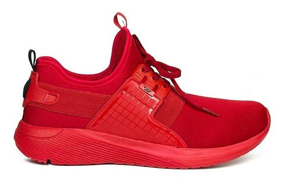 Trender Tenis Para Hombre Color Rojo Con Agujetas