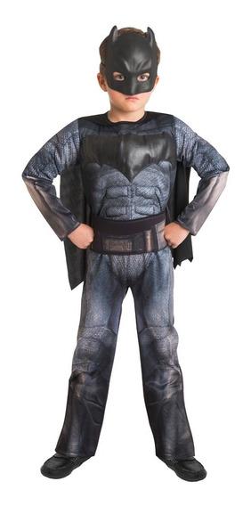 Disfraz Batman Con Mascara Lujo Niño Warner Fantasy Ruz