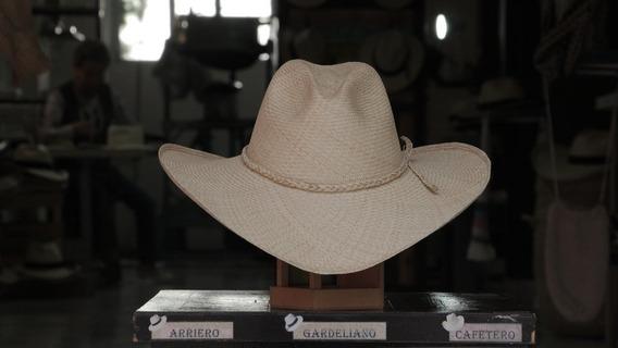Sombrero Aguadeño Café Cinta Trenzada (56)