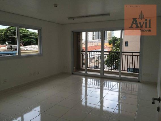 Sala Para Alugar, 36 M² Por R$ 1.600,00/mês - Tatuapé - São Paulo/sp - Sa0117