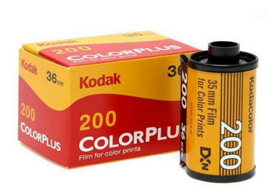 Filme Kodak 35 Mm Color Plus 200 36 Poses 5 Rolos Entrega + Rápida