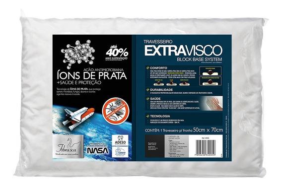 Travesseiro Fibrasca Nasa Extravisco Íons De Prata 50x70cm