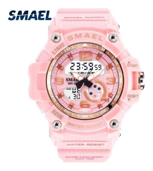 Relógio Smael 1808 Digital Analógico Unisex Caixa Pequena