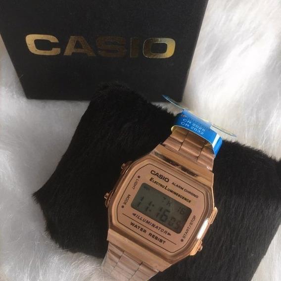Relógio Casio Unisex Vintage Rose Escuro - Original