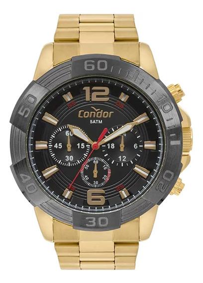 Relógio Condor Masculino Dourado Covd54ay/4p