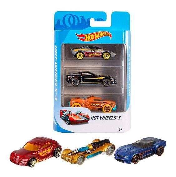 Hot Wheels Autos Surtidos Pack X3hotwheels Original Mattel