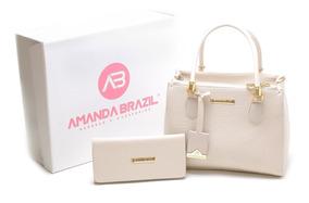 Kit Bolsa Feminina Média Lançamento Amanda Brazil Promoção