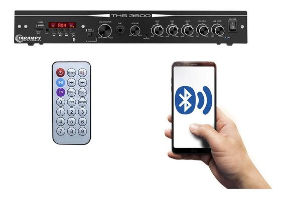 Amplificador Receiver Residencial Taramps Ths-3600 120w Rms