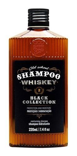 Imagem 1 de 1 de Shampoo Old School Whiskey 220ml | Hidratação Profunda | Qbs