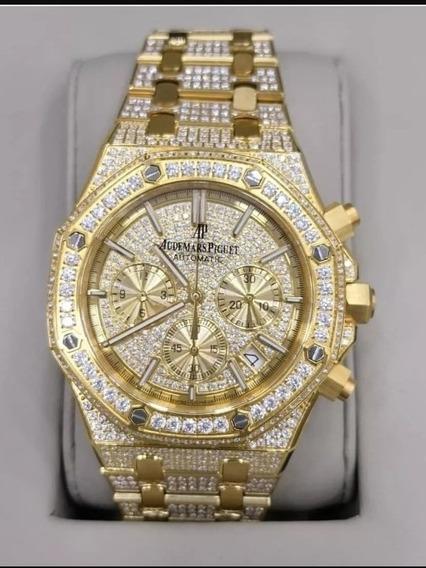 Relógio Audemars Piguet Cravejado Feminino Dourado