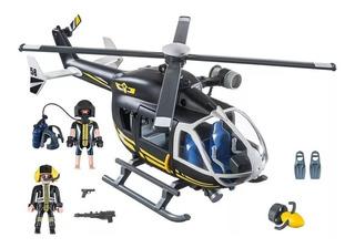 Playmobil 9363 Helicóptero De Policía Fuerzas Especiales
