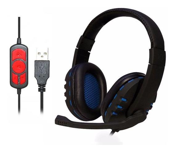 Fone Headset Gamer Usb Digital C/ Microfone Fone Q7 Barato