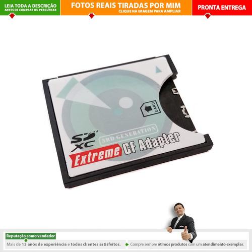 Imagem 1 de 7 de Adaptador Cartão Sd Sdhc Sdxc Sd Wifi Para Compact Flash 3rd