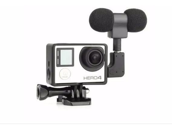 Microfone Stereo Gopro Hero 3+ Hero 4 Kit Stereo Go Pro Top