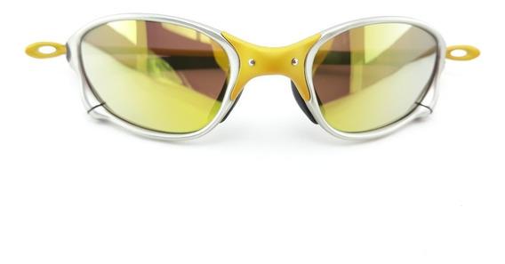 Óculos De Sol Juliet X Metal Double X 24k Dourada Polarizada