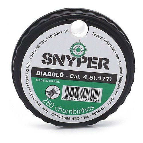 Chumbinho Diabolo Snyper 4,5mm - C/250un