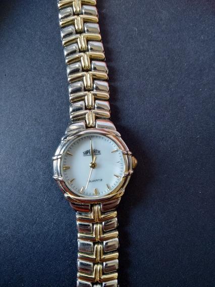 Relógio Superatic - Dourado Com Prata - Elegância E Luxo