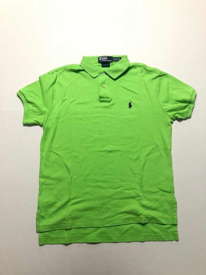 Polo Verde Ralph Lauren Slim Fit Hombre