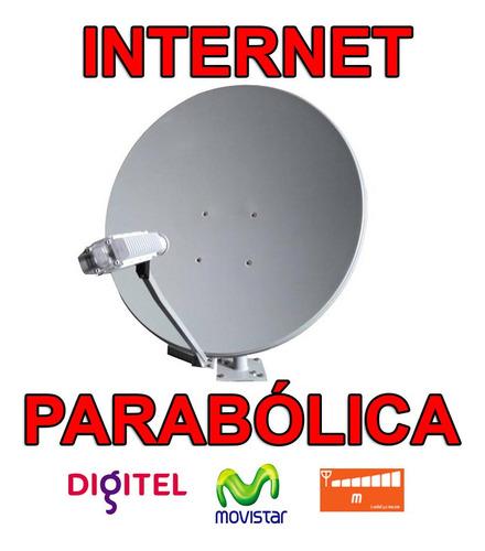 Antena Parabolica Satelital Amplificador Señal Internet 2vat