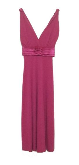 Vestido De Fiesta Rosa Fucsia Vestido Largo Medio De Fiesta