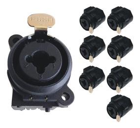 8 Plug Conector Combo Xlr Canon E P10 Stereo Tipo Neutrik