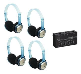 Combo 4 Auriculares Amplificador Behringer Micro Amp Ha400