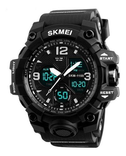 Reloj Doble Hora Analogic Digital Alarma Deportivo Hombre