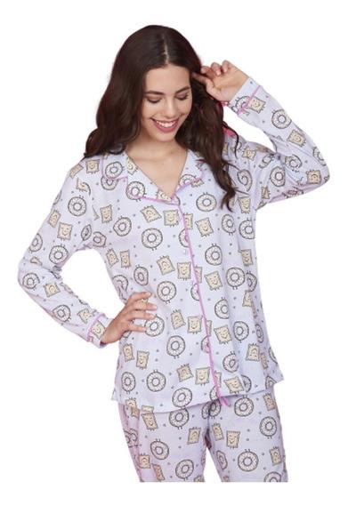 Pijama Mujer Abotonado Con Cuello Art 5114 - Emmy Pijamas