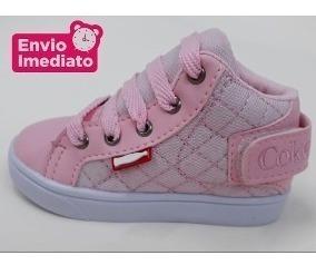 Tenis Bebê Botinha Sapato Infantil Lançamento Promoçao