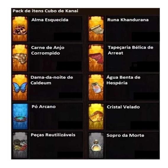 Diablo 3 Ps4 - Pack De Itens Cubo De Kanai - Infinitos