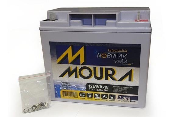 Bateria 12v 18ah Vrla Moura Estacionária Para No-break