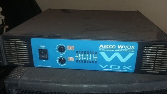 Amplificador Potencia Machine A8000- 2000wts Rms Usado