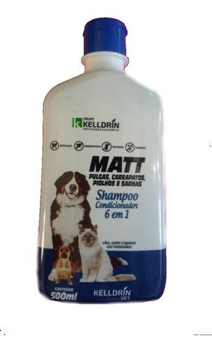 Shampoo Antipulgas Carrapatos Piolho Sarna Matt Cães Gatos