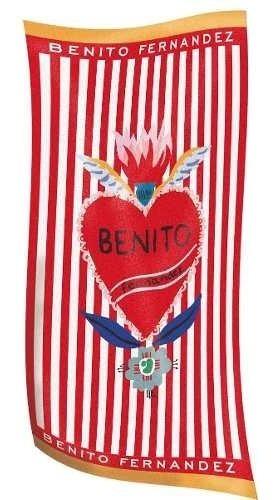 Toallón Playero Corazón - Benito Fernandez