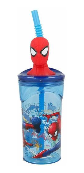Vaso Spiderman Con Figura En 3d Licencia Original Ha163