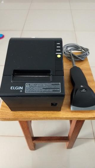 Impressora Térmica Elgin I9 + Leitor De Código De Barras