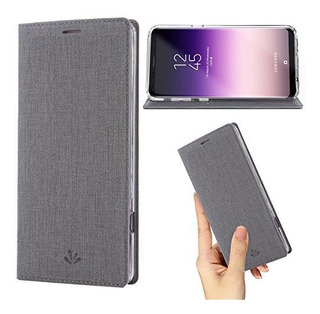 Galaxy S8 Active Case, Cartera De Cuero Premium Flip Case So