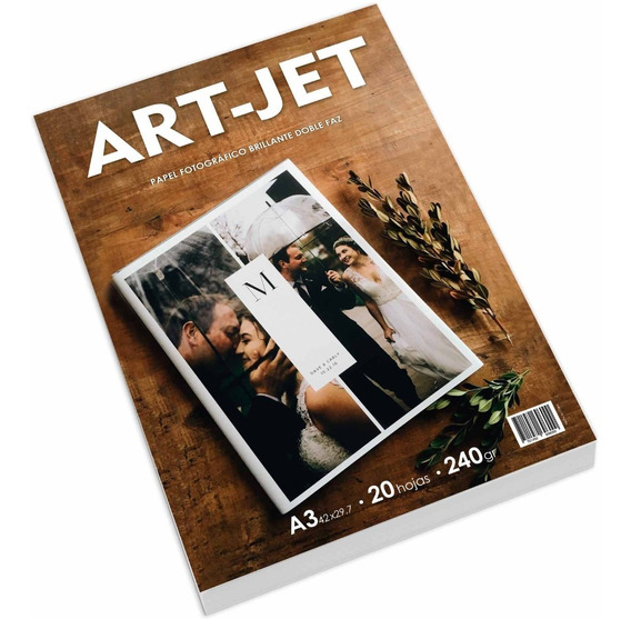 Papel Foto Brillo A3 Bifaz Doble Faz 240gr 20 Hojas Art-jet®