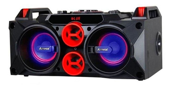 Caixa Som Amplificada Bluetooth 150w Rms Mp3 Fm Usb Sd Aux P