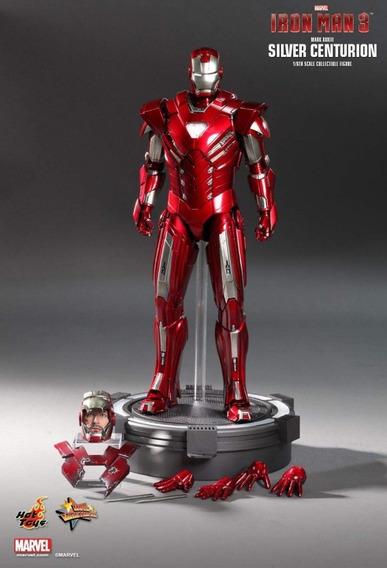 Hot Toys Mms213 - Iron Man Silver Centurion Mk33 Vip