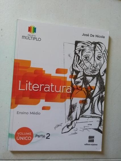 Projeto Múltiplo Literatura Parte 2 Vol. Único Ensino Médio