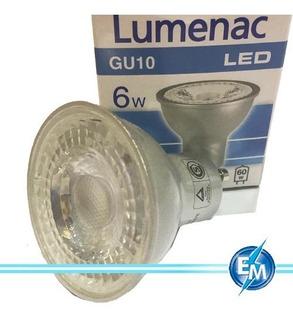 Lampara Dicroica Led Lumenac Gu10 6w/4000k 220v Pack 5 Unid!