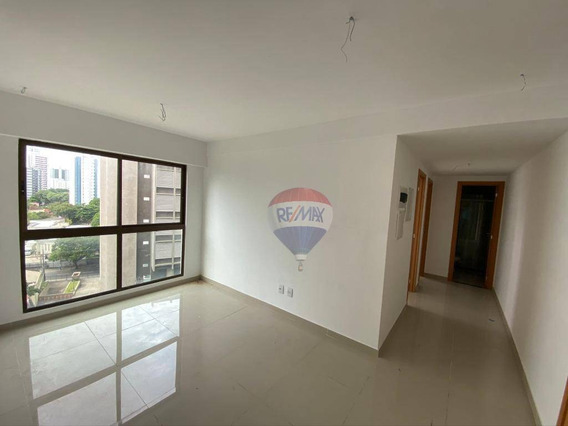 Apartamento Com 2 Dormitórios Para Alugar, 50 M² Por R$ 2.400,00/mês - Graças - Recife/pe - Ap0093